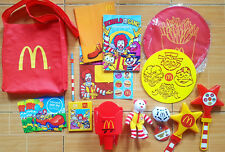 HUGE LOT MCDONALD'S COLLECTIBLES PARTY LOOT BAG TY BEANIE BABIES FRY HOLDER ETC