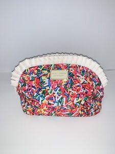 Betsey Johnson Sprinkles Hand Bag Zippered Enameled Gold Tone Designer Plate