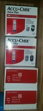 400 ACCU-CHEK Aviva Plus Glucose test strips 4 boxs of 100 sealed new nice clean