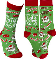 Primitives by Kathy Womens Fun Socks — These Are My Ugly Christmas Socks 1 Pair