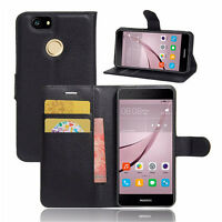 "Custodia FLIP cover eco pelle NERA per Huawei Nova 5.0"" stand+tasche BOOKLET"