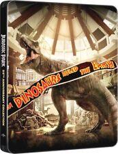 JURASSIC PARK - COLLEZIONE COMPLETA STEELBOOK 4 FILM (4 BLU-RAY) 25° ANNIV.