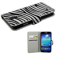 Card ID Leather Magnetic Flip Wallet Case Cover For Samsung Galaxy S4 SIV i9500