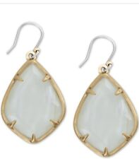 Lucky BRAND Gold Large White Mother of Pearl Drop Earrings