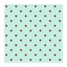 Chocolate Brown Polka Dots on Sea Green Wallpaper KD1732