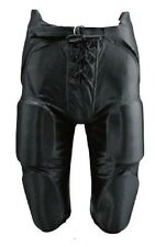 New Martin Adult Football Dazzle Game Pants w Integrated 7 Piece Pad Set Black