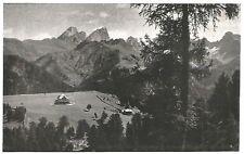 D0799 Trento - Pianoro di Ciampedìe - Stampa d'epoca - 1929 old print