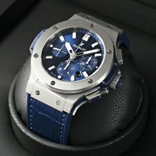Hublot Big Bang 301.sx.7170.lr Chronograph BLUE SUNRAY Steel Complete New