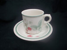 Wedgwood RASPBERRY CANE. Teacup and Saucer.