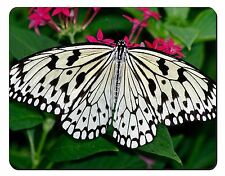 Black and White Butterfly Computer Mouse Mat Christmas Gift Idea, IBU-9M