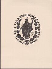 ex-libris Egiersdorff Wlodzimierz (cliché) 1963