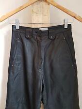 Vintage 80s 90s Black Leather Highwaisted Pants