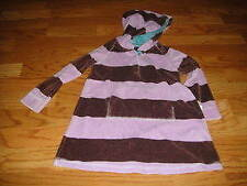 Mini Boden 2-3 purple brown striped velour dress
