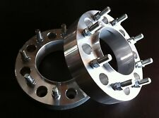 """2 Ford F350 Dually Hub Centric Wheel Spacers 2"""" 8x200 to 8x200 Billet aluminum"""