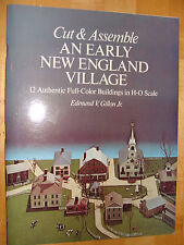 Cut & Assemble Model Early New England Village H-O RR Scale 1977 by Gillon