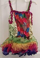 Wolff Fording Multicolor Girl's Size 14 Sequin Tank Tutu Dress Costume