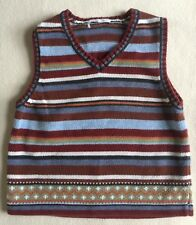 Hanna Andersson Boys Browns Cotton Vest sz 4?