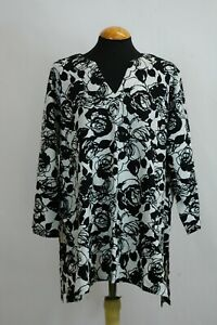 Kasbah Clothing Floral Tunic Top - Plus Size - 24/26