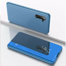 For Samsung Galaxy Note 10 Plus Luxury Mirror View Leather Flip Stand Case Cover