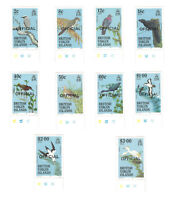 1986 BRITISH VIRGIN ISLANDS BIRDS MNH STAMPS WITH TABS, SHORT SET OFFICIAL OVPT