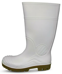 Traxium White Mens All Purpose Safety Gumboots - Brand New