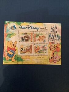 Winnie The Poo Our Son Walt Disney World Collectors Sheet Stamps 45 1996 Canada