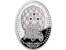 Niue Island Coin 1 Dollar 2012 Imperial Faberge Eggs Coronation Box Proof D124