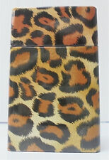 Leopard Tin Cigarette Case, Fit King, TIN2LEO-1
