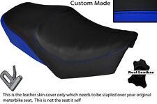 Negro Y Azul Real Custom Fits Yamaha especial Sr 250 Doble Cuero Funda De Asiento