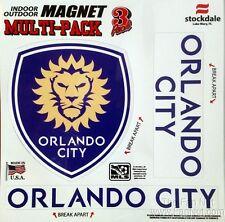 "Orlando City SC Lions MULTI Vinyl Auto Home Magnet 8"" Sheet Soccer Football Club"