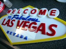 3D LAS VEGAS art sign Vintage  man cave New Hotel Casino 3-D gambling Poker em