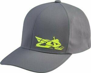 FLY Racing PRIMARY Flex Fit Delta - GREY/HI-VIS - Large / X-Large -  Adult Mens