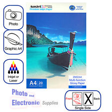 A4 Glossy Photo Paper for Inkjet OR Laser 250gsm (20 sheets) Multifunction Gloss