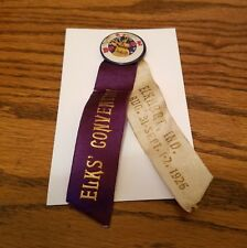 1926 B.P.O.E. Elks' Convention Pin, Elkhart, Ind.