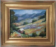 New ListingOriginal Oil Painting - Cabin In The Mountains Landscape