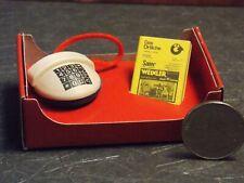 Dollhouse Miniature Telephone & Book 1:10 scale F24 Bodo Hennig Dollys Gallery