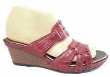 Clarks Lucia Sun Red Rouge Womens Summer Shoes Wedge Sandals 7 M EUR 38