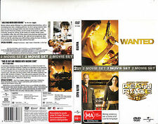 Wanted-2008-Angelina Jolie/Death Race-2008-2 disc-Movie-DVD