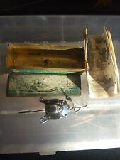 Al Foss #11 Frog Wiggler metal lure 1918 patent W/Marked Tin Box & Catalog