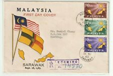 Malaysia 1963 Inauguration Registered Private First Day Cover full set stamps