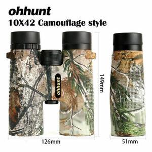 ohhunt Camouflage Hunting Binoculars 10x42 Waterproof Fogproof HD Telescope BAK4