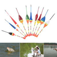 10pcs/lot long tail fishing throw floats mix size floating bobbers set fishin fu