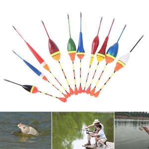 10pcs/lot long tail fishing throw floats mix size floating bobbers set fish_cd