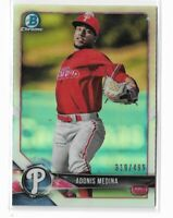 2018 Bowman Chrome prospects refractor parallel Adonis Media 319/499 Phillies