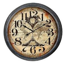 """Extra Large Glass Front Retro Shabby Chic Wall Clock 93cm Diameter (36"""" +) 8260"""