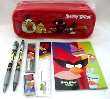 Angry Birds & Friends Red Pencil Case Pouch and Angry Birds Stationary Set-New!2