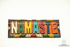 NAMASTE YOGA OM WOODEN WALL HANG ART SIGN PLAQUE HANDMADE NEPAL FAIR TRADE