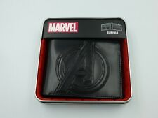 All NEW Marvel The Avengers Logo Bifold Wallet with Metal Tin Black