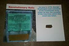 New listing S6 Revolutionary Relic, wood tied to Cambridge Elm George Washington Army 1775
