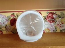 Unusual vintage white clear ceiling light shade